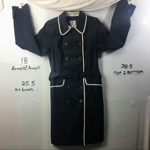 Worthington Trench in the color black Size Medium